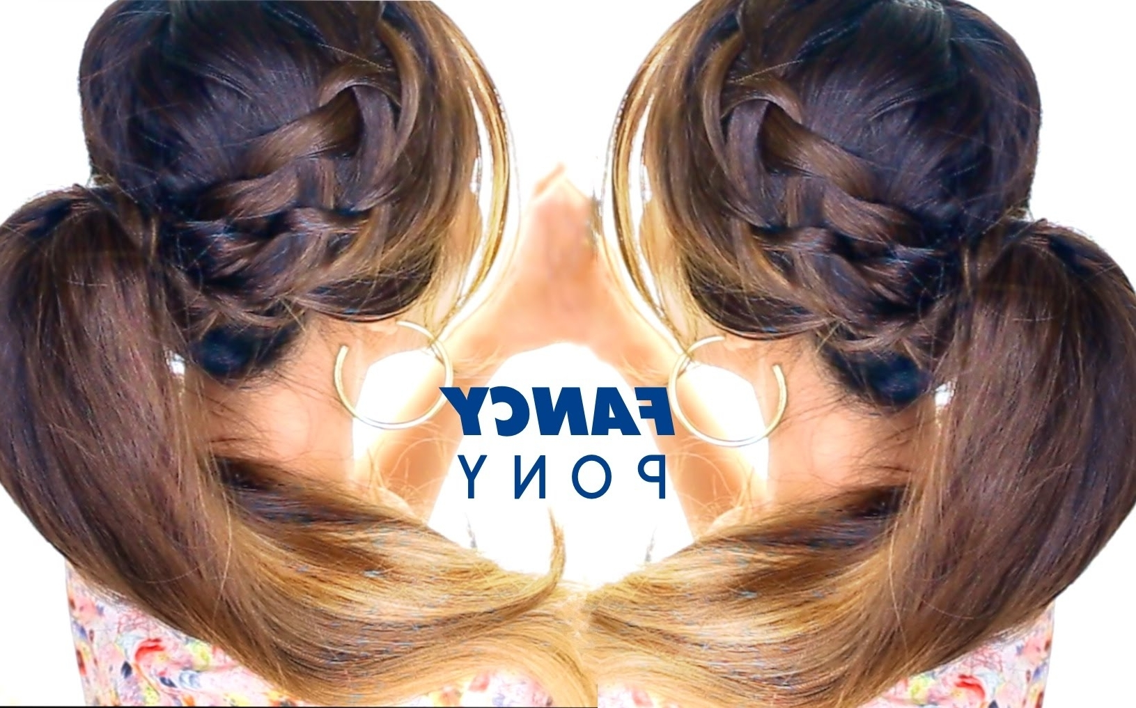 Most Recently Released Pretty Messy Pony Hairstyles With Braided Section Throughout Awesome French Braid Ponytail Hairstyle ☆ Braid Hairstyles (View 13 of 20)