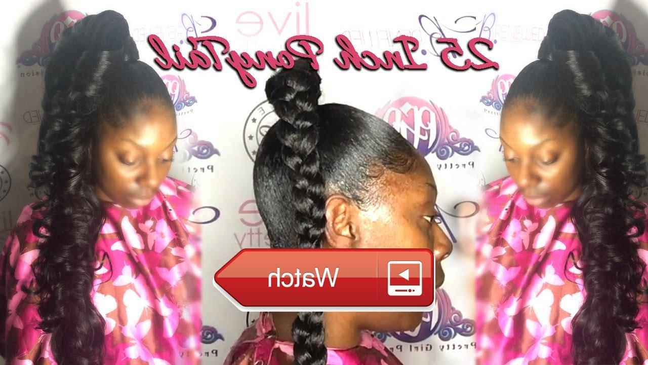 Most Recently Released Princess Tie Ponytail Hairstyles In How To Do A Inch Ponytail With Inch Hair Princess Pony Hair Videos (View 11 of 20)