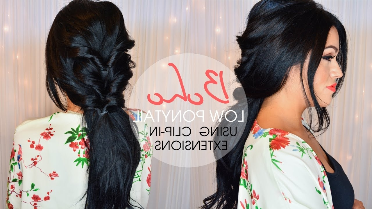 Most Recently Released Princess Tie Ponytail Hairstyles Regarding Boho Low Ponytail Hairstyle – Luxury For Princess – Youtube (View 12 of 20)