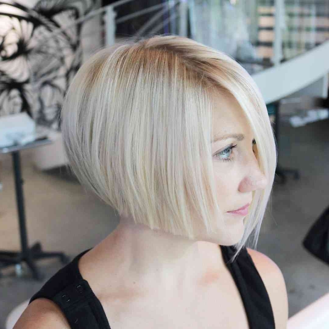 Most Recently Released Steeply Angled A Line Lob Blonde Hairstyles Inside 50 Amazing Blunt Bob Hairstyles You'd Love To Try – Bob Haircuts (View 16 of 20)