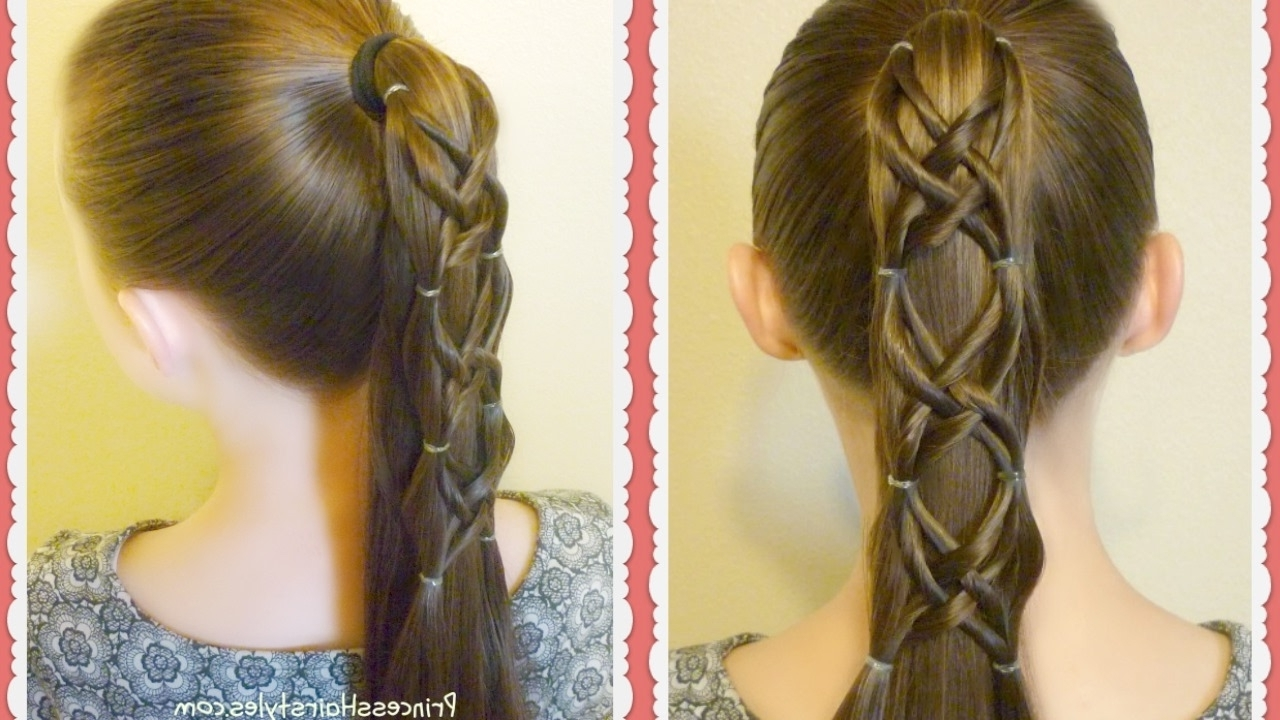 Most Recently Released The Criss Cross Ponytail Hairstyles With Criss Cross Woven Ponytail Hairstyle – Youtube (View 18 of 20)