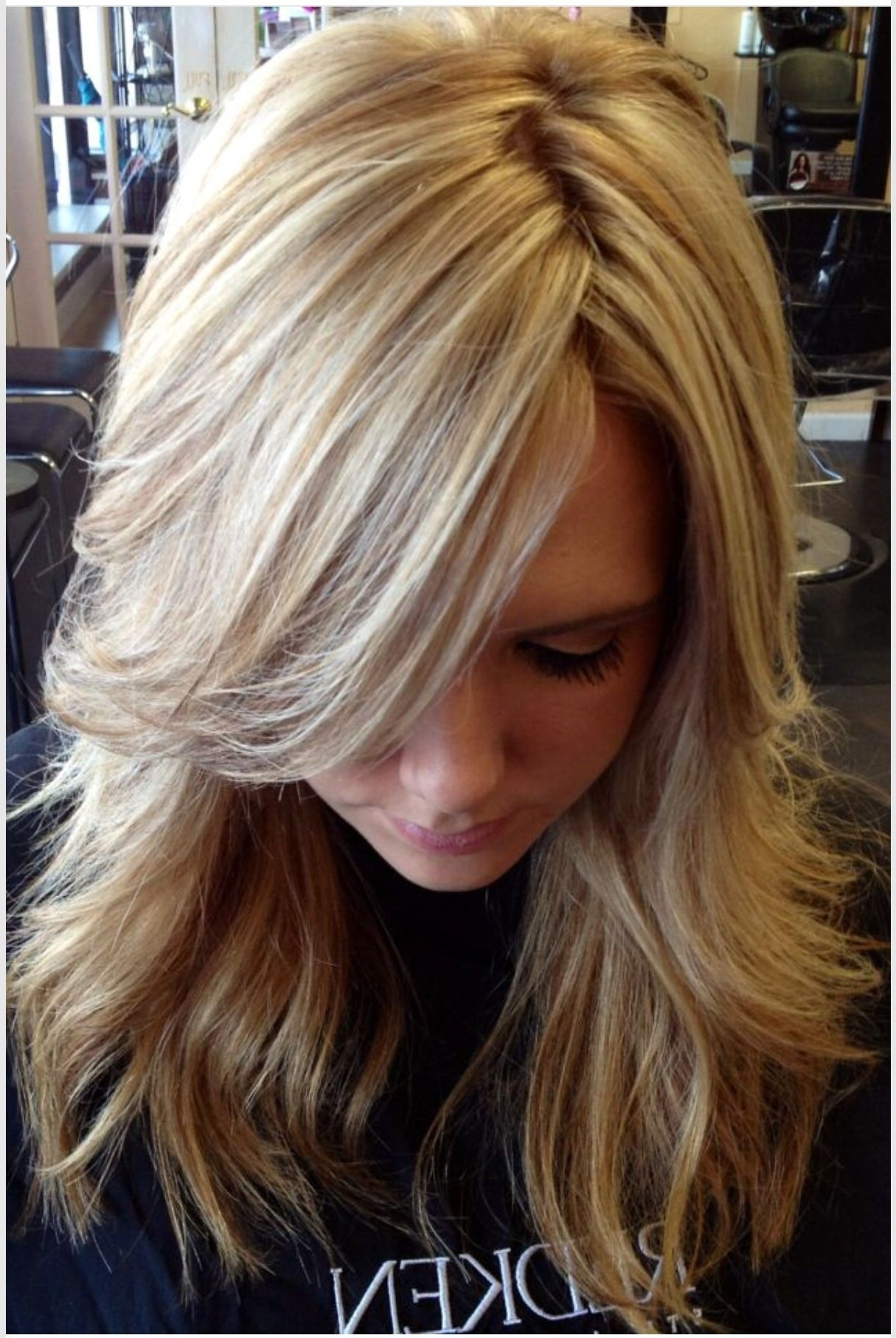 Most Recently Released Thin Platinum Highlights Blonde Hairstyles Inside A Ton Of Highlights, With Paper Thin Lowlights That Blend So (View 17 of 20)