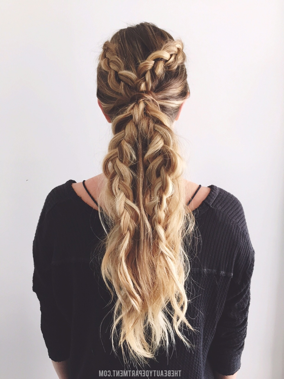 Featured Photo of Two Braids In One Hairstyles