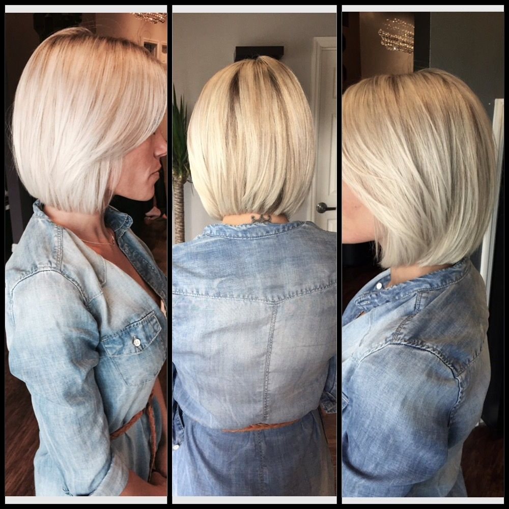 Most Recently Released Voluminous Stacked Cut Blonde Hairstyles Within Platinum Blonde Long Bob.. Lob Haircut.. Platinum Blonde. (View 12 of 20)