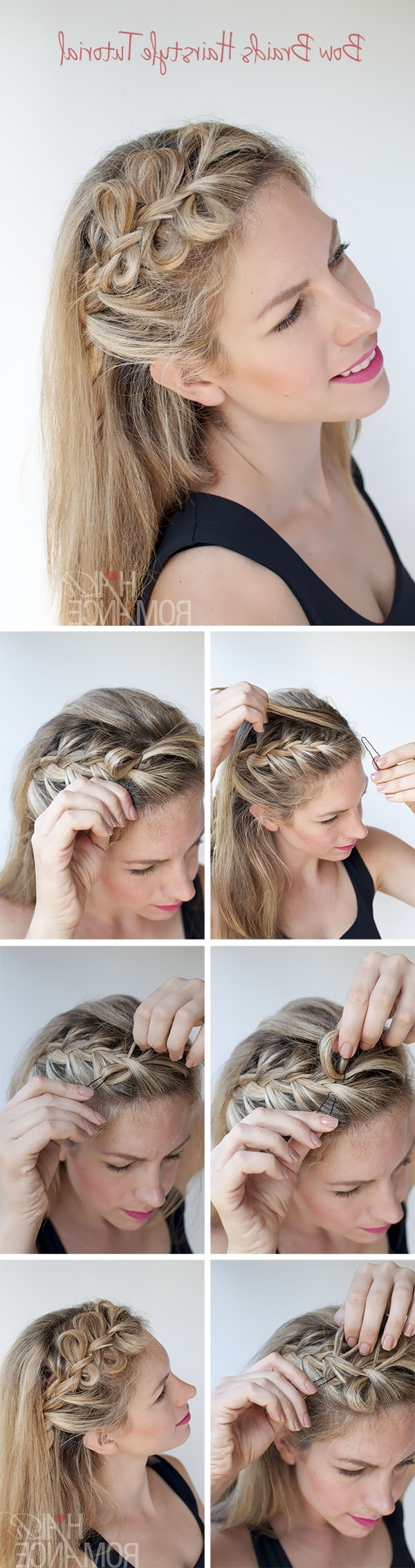 Most Up To Date Bow Braid Ponytail Hairstyles With Bow Braids Hairstyle Tutorial – Hair Romance (View 13 of 20)