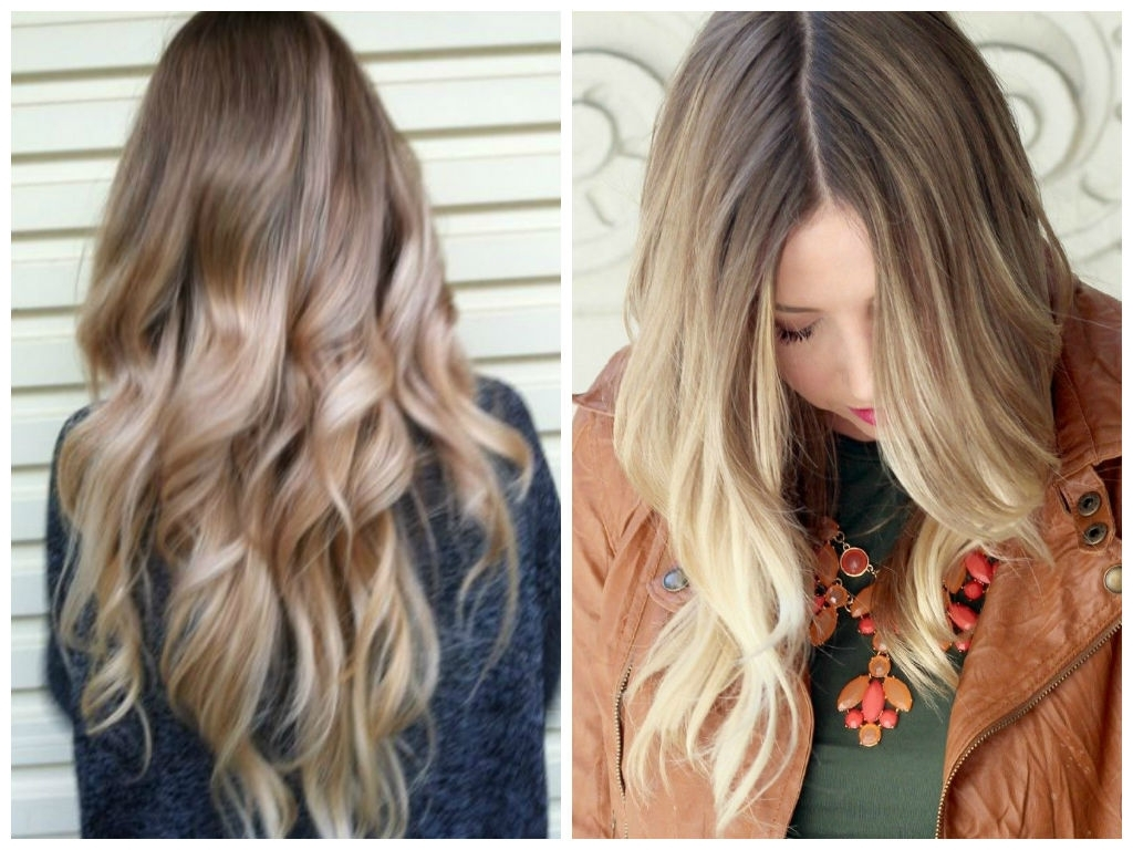 Most Up To Date Brunette Hairstyles With Dirty Blonde Ends With Balayage Highlights Ideas – Hair World Magazine (View 13 of 20)
