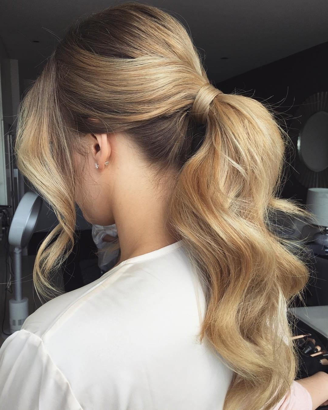 Most Up To Date Classic Bridesmaid Ponytail Hairstyles With 40 Irresistible Hairstyles For Brides And Bridesmaids (View 2 of 20)