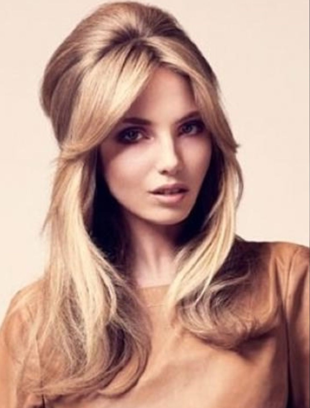 Most Up To Date Half Updo Blonde Hairstyles With Bouffant For Thick Hair Within Image Result For Beehive Hair Half Up Half Down (View 10 of 20)