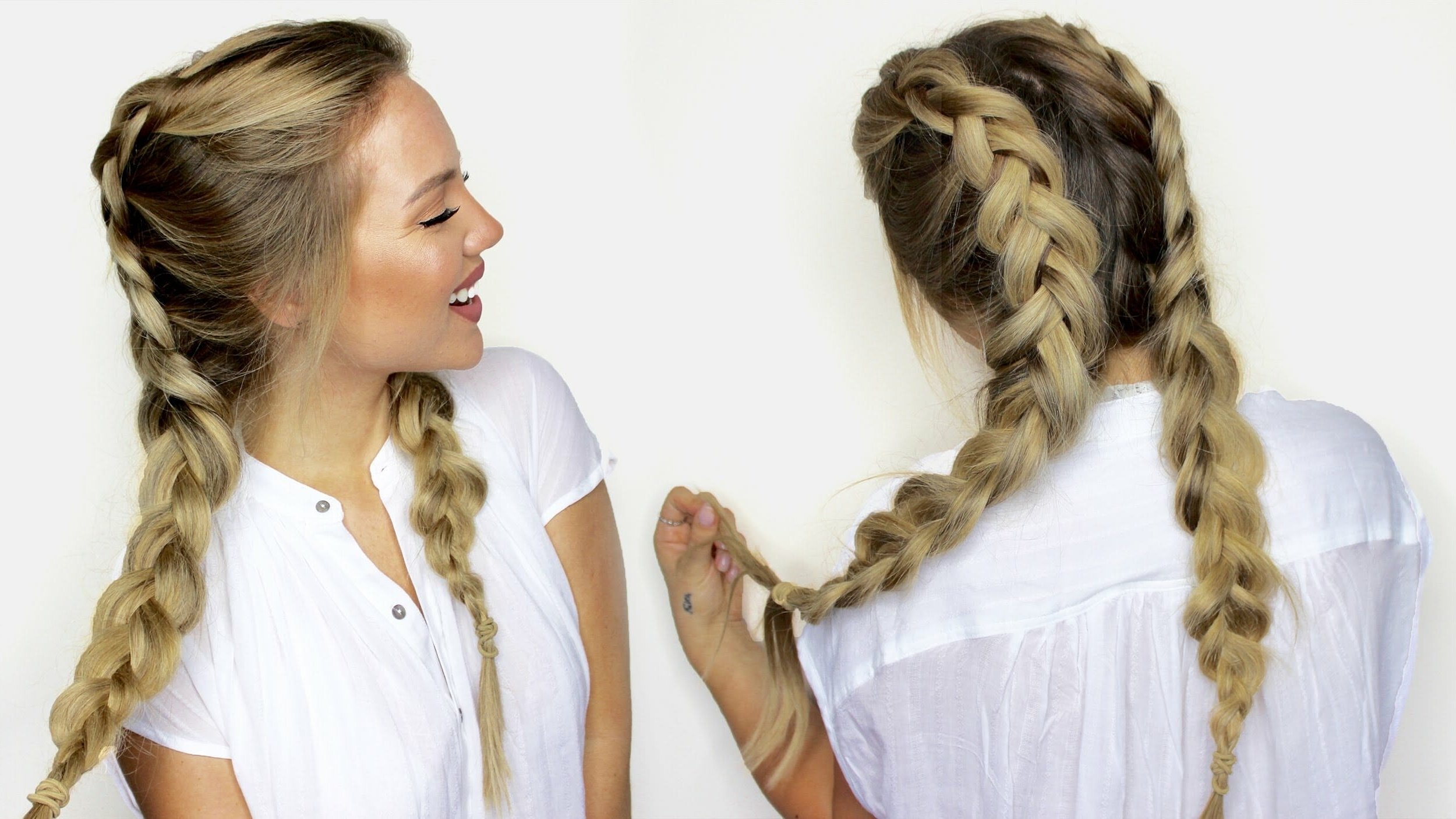 Most Up To Date Hidden Braid Hairstyles Intended For How To : Half Braided Hair – Hidden Crown Hair Extensions (View 14 of 20)