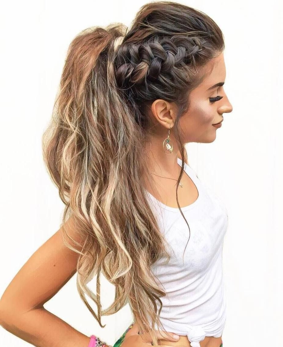 Most Up To Date Large And Loose Braid Hairstyles With A High Pony Inside 40 High Ponytail Ideas For Every Woman (View 16 of 20)
