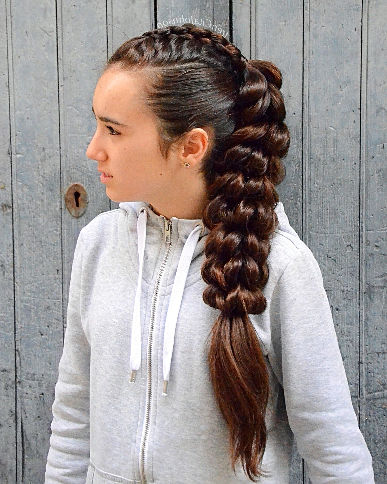 Most Up To Date Loose 3D Dutch Braid Hairstyles Within Big Ponytail Combo With A 3D Round Braid On The Top And A Huge Pull (View 14 of 20)