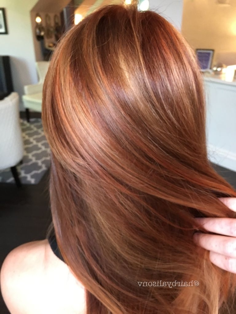 Most Up To Date Maple Bronde Hairstyles With Highlights With Regard To Pumpkin Spice Latte Hair Golds And Coppers Galore (View 13 of 20)