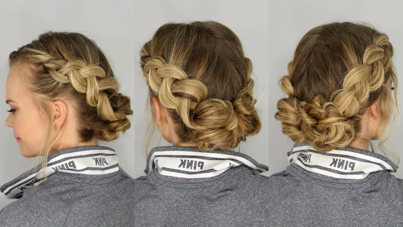 Most Up To Date Messy Ponytail Hairstyles With A Dutch Braid Regarding Dutch Braids And Messy Buns (View 16 of 20)