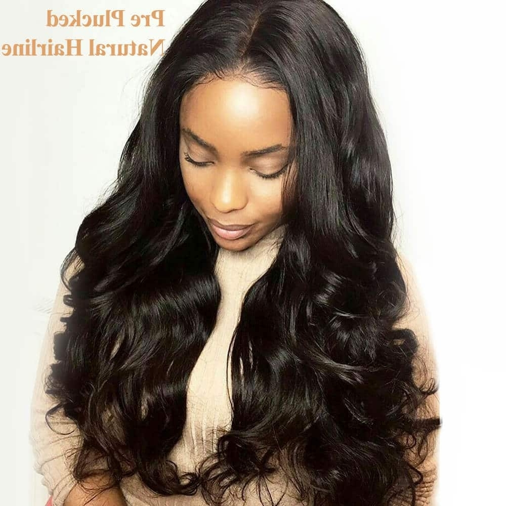 Most Up To Date Natural Color Waves Hairstyles Throughout Brazilian Virgin Human Hair Natural Color Body Wave Lace Front Wigs (View 7 of 20)