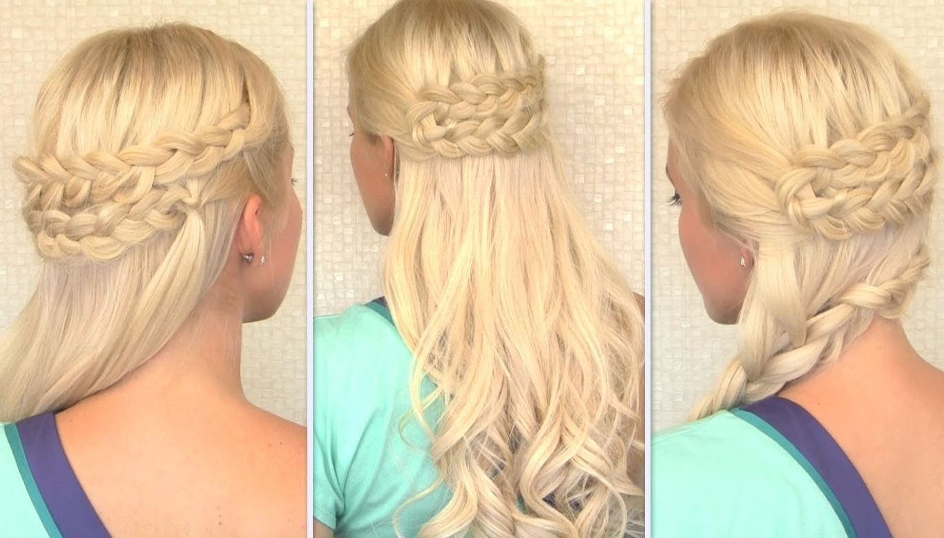 Most Up To Date Perfectly Undone Half Braid Ponytail Inside Bohemian Half Up Half Down Hairstyle Everyday Side Swept Braid Long (View 6 of 20)