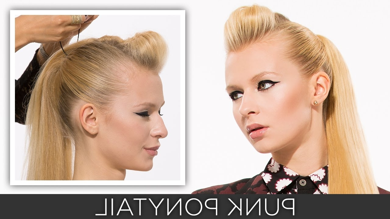 Most Up To Date Punky Ponytail Hairstyles Within How To: Punk Ponytail – Youtube (View 13 of 20)