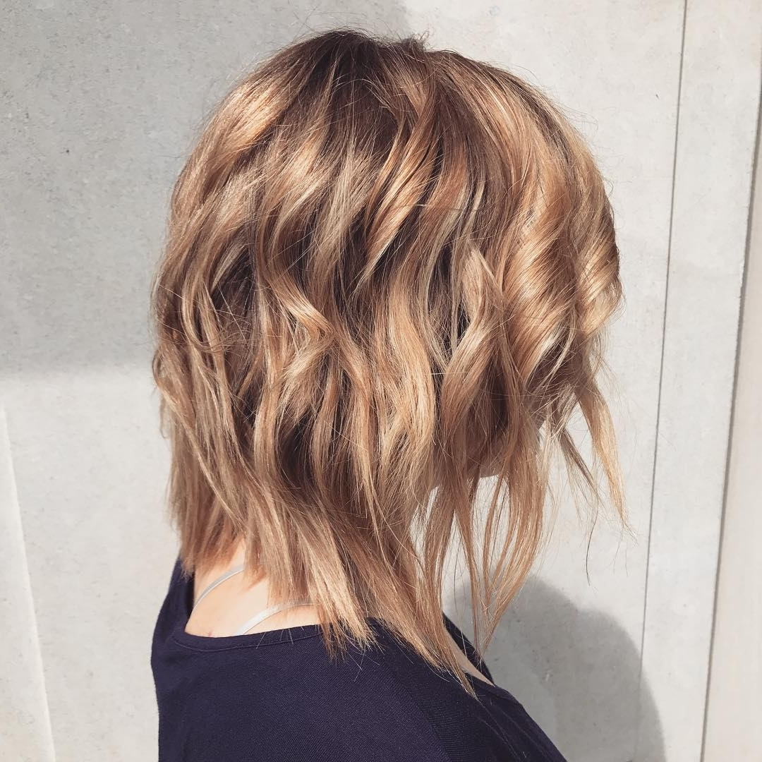 Most Up To Date Shaggy Chin Length Blonde Bob Hairstyles Intended For 10 Best Medium Hairstyles For Women – Shoulder Length Hair Cuts  (View 16 of 20)