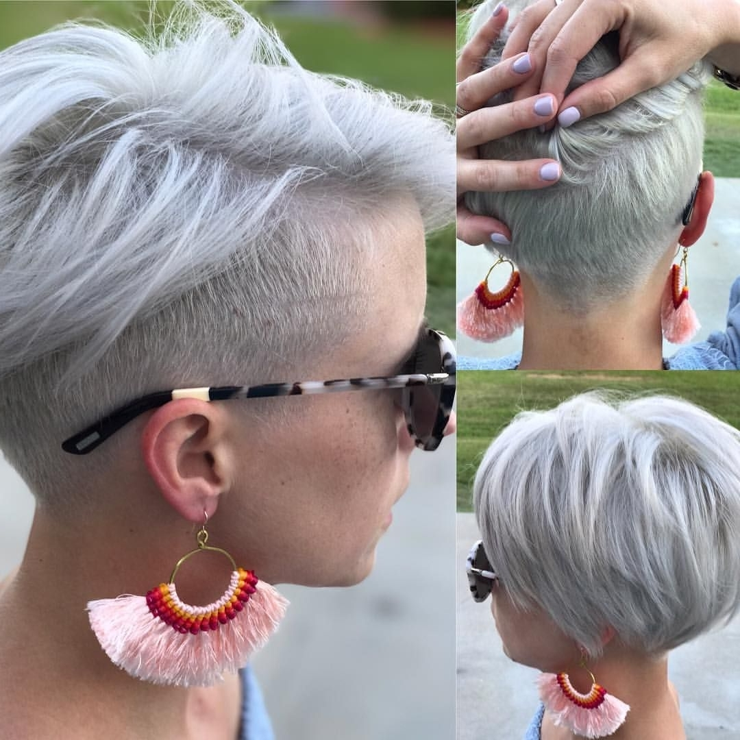 Most Up To Date White Blonde Hairstyles With Dark Undercut In Pinheymelindak, Hairstylist, Youtuber, Blogger On Instagram (View 18 of 20)