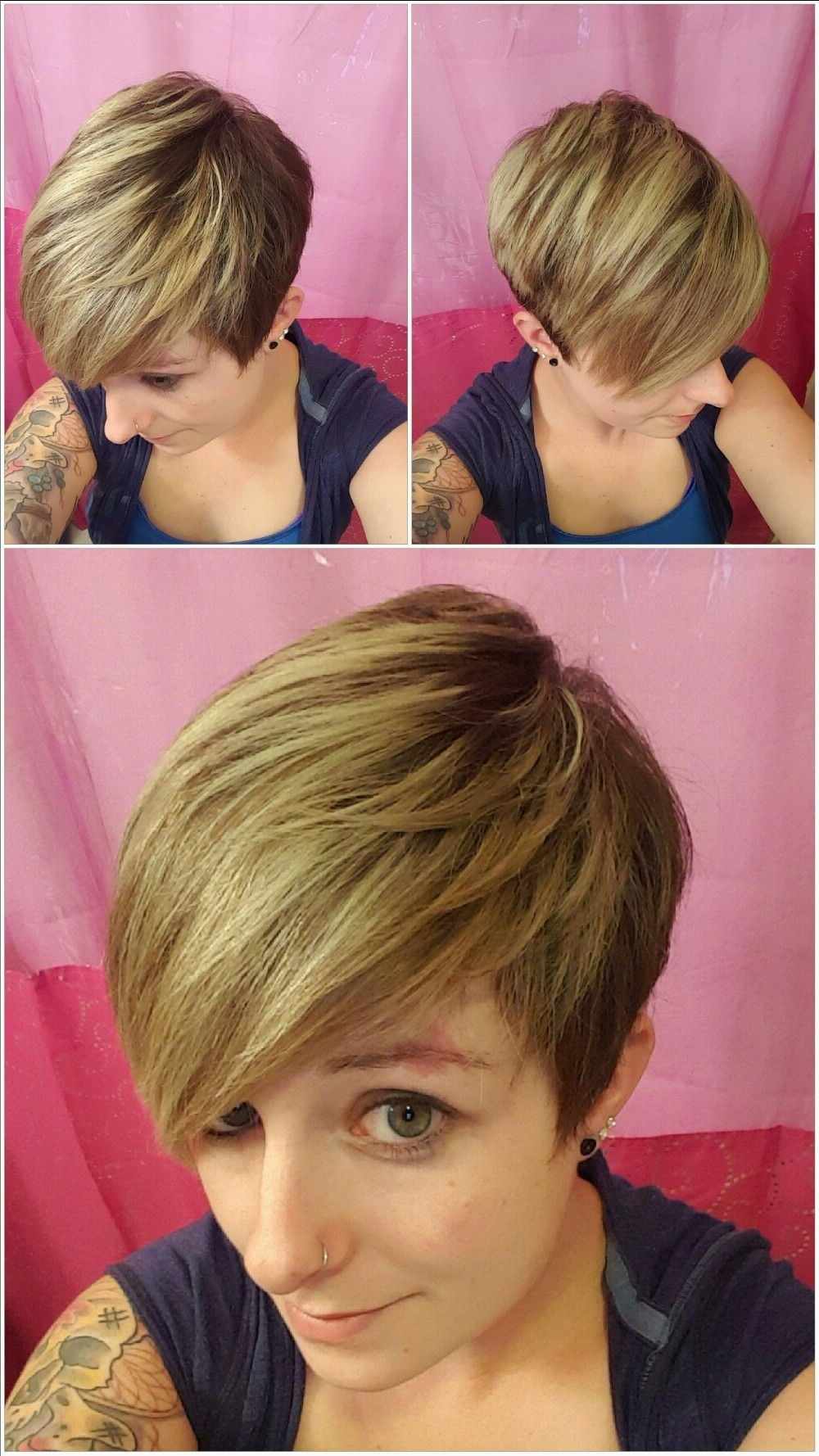 My Pixie Cut With Blonde Highlights And Shadow Root (View 13 of 20)
