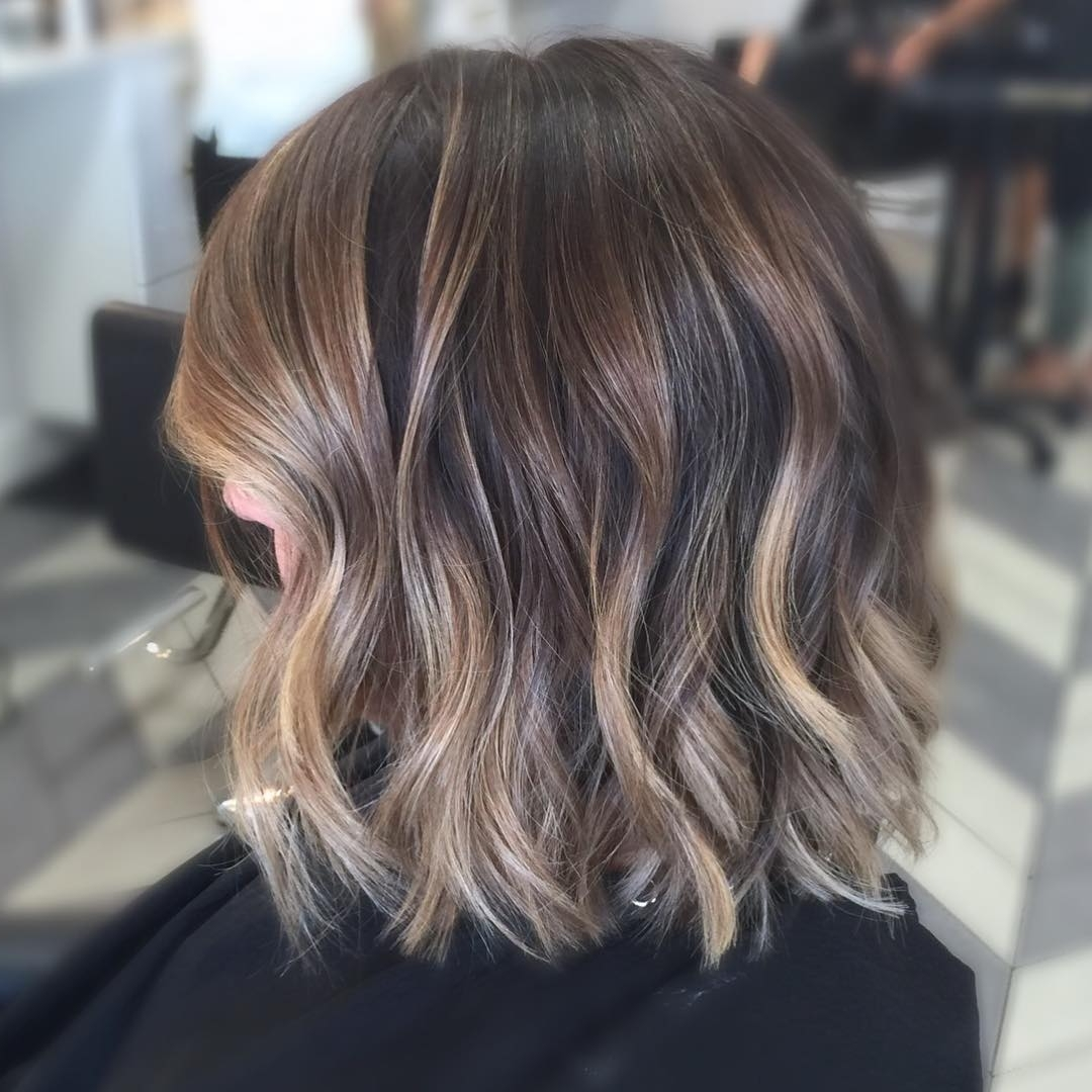Newest Caramel Blonde Lob With Bangs Regarding 45 Balayage Hairstyles 2018 – Balayage Hair Color Ideas With Blonde (View 18 of 20)
