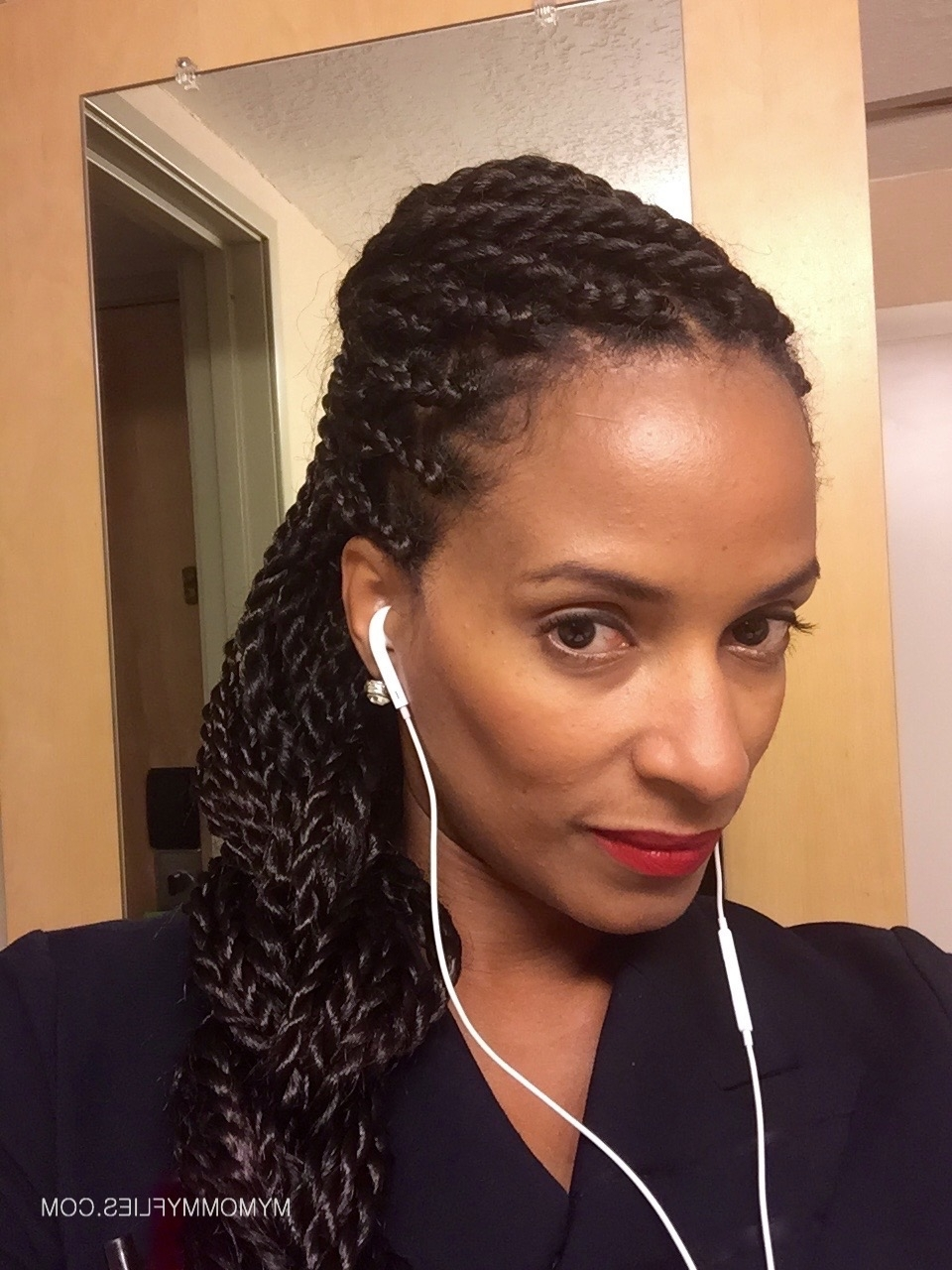 Newest Cornrows And Senegalese Twists Ponytail Hairstyles In 15 Easy Senegalese Twists Hair Styles For Travel – My Mommy Flies (View 18 of 20)
