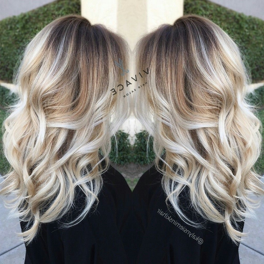 Newest Dark Roots And Icy Cool Ends Blonde Hairstyles Throughout Blonde Cool Tones (View 2 of 20)