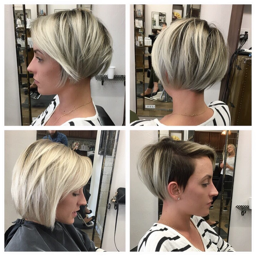 Newest Disconnected Blonde Balayage Pixie Hairstyles Within Women's Sleek Undercut Pixie Bob With Blonde Balayage (View 10 of 20)