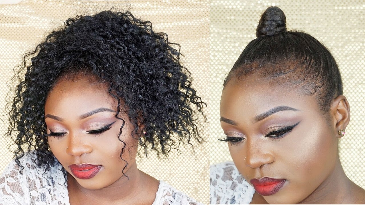Newest Easy High Pony Hairstyles For Curly Hair With How To : Easy Sleek High Curly Ponytail Hair Tutorial On Short Hair (View 16 of 20)