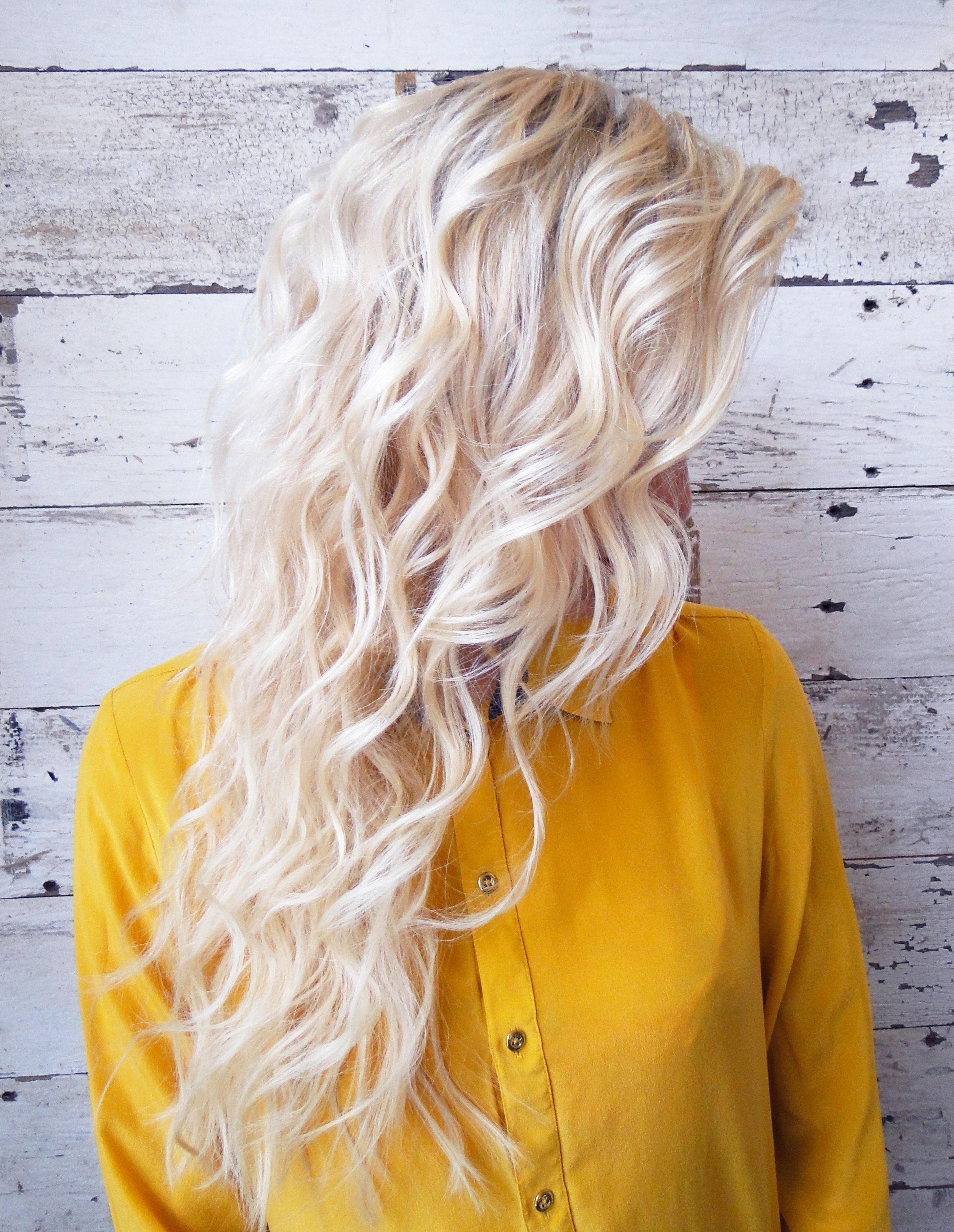 Newest Glamorous Silver Blonde Waves Hairstyles Regarding Bleach Blonde Mermaid Waves (View 14 of 20)