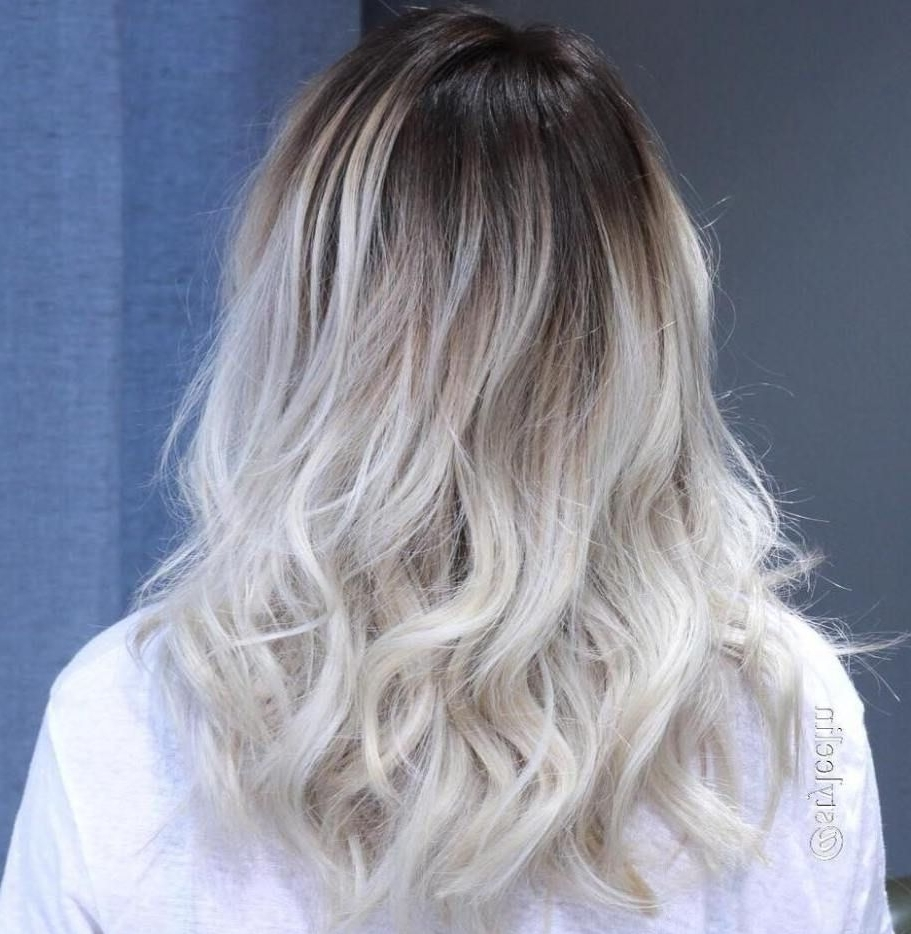 Newest Grayscale Ombre Blonde Hairstyles Regarding 40 Hair Сolor Ideas With White And Platinum Blonde Hair (View 13 of 20)
