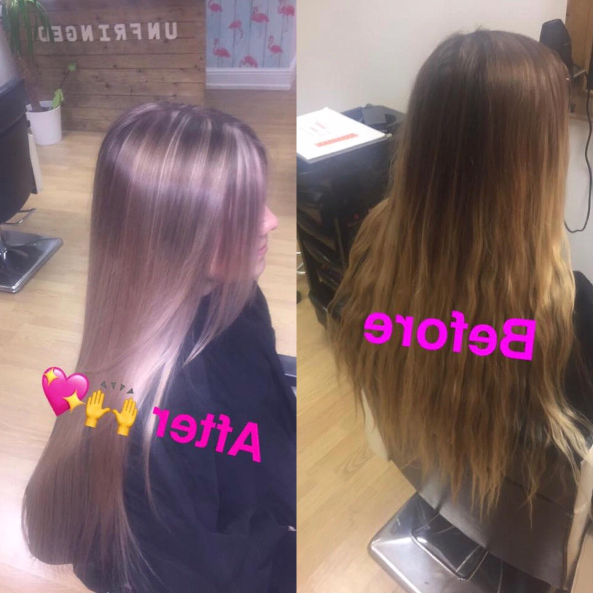 Newest Grown Out Balayage Blonde Hairstyles Intended For Growing Out Balayage To Rosy Blonde Highlights (View 14 of 20)