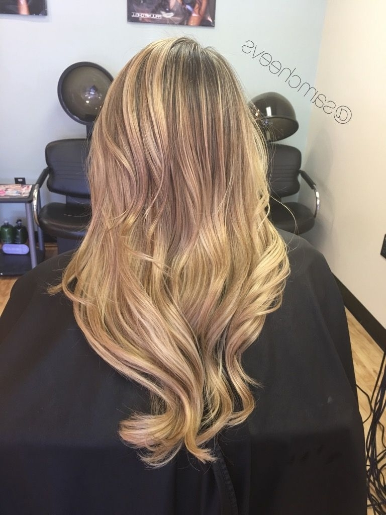Newest Honey Blonde Fishtail Look Ponytail Hairstyles Inside Golden Honey Blonde Highlights For Long Layered Hair Types / Partial (View 16 of 20)