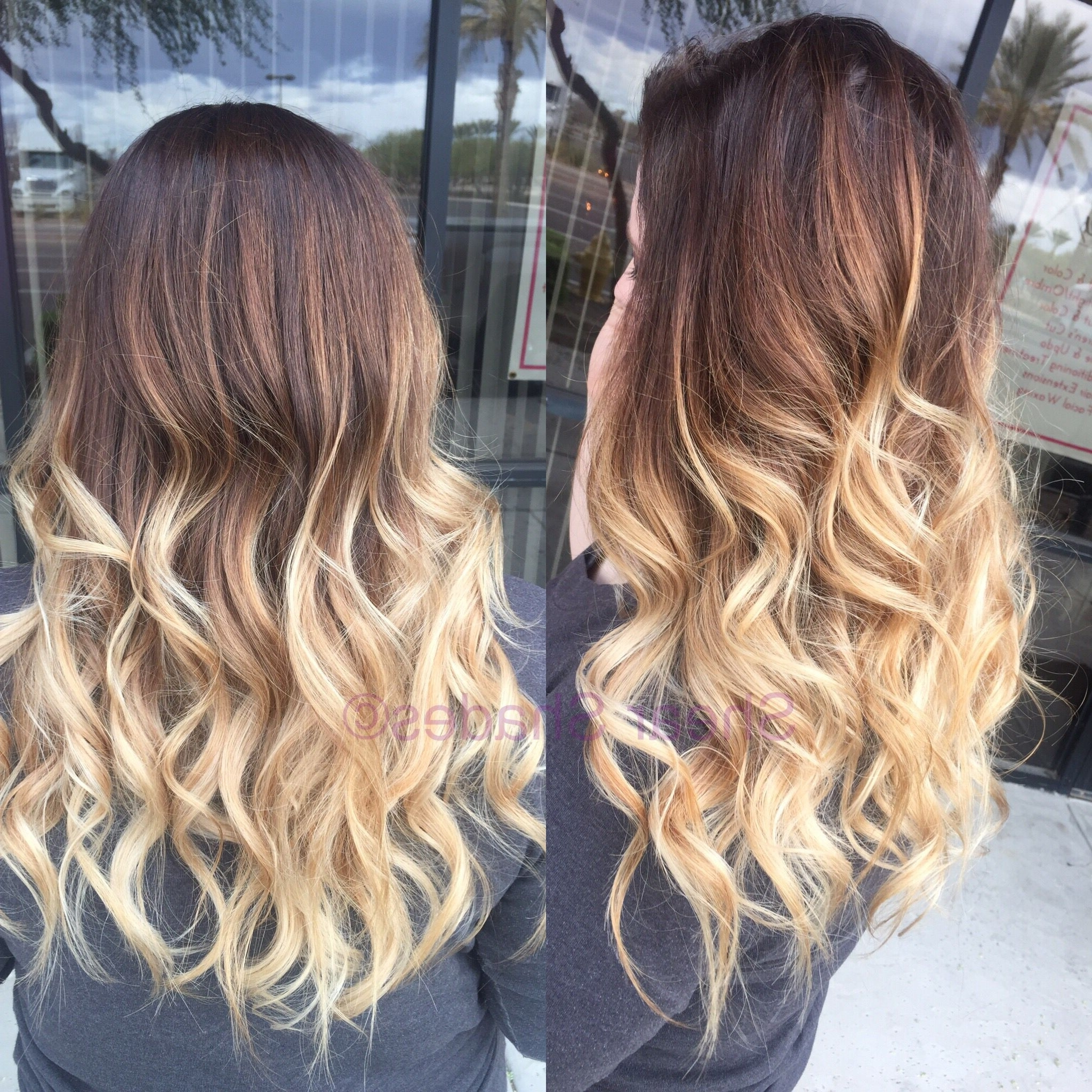 Newest Light Chocolate And Vanilla Blonde Hairstyles With Regard To Light Blonde Balayage Hair (View 12 of 20)