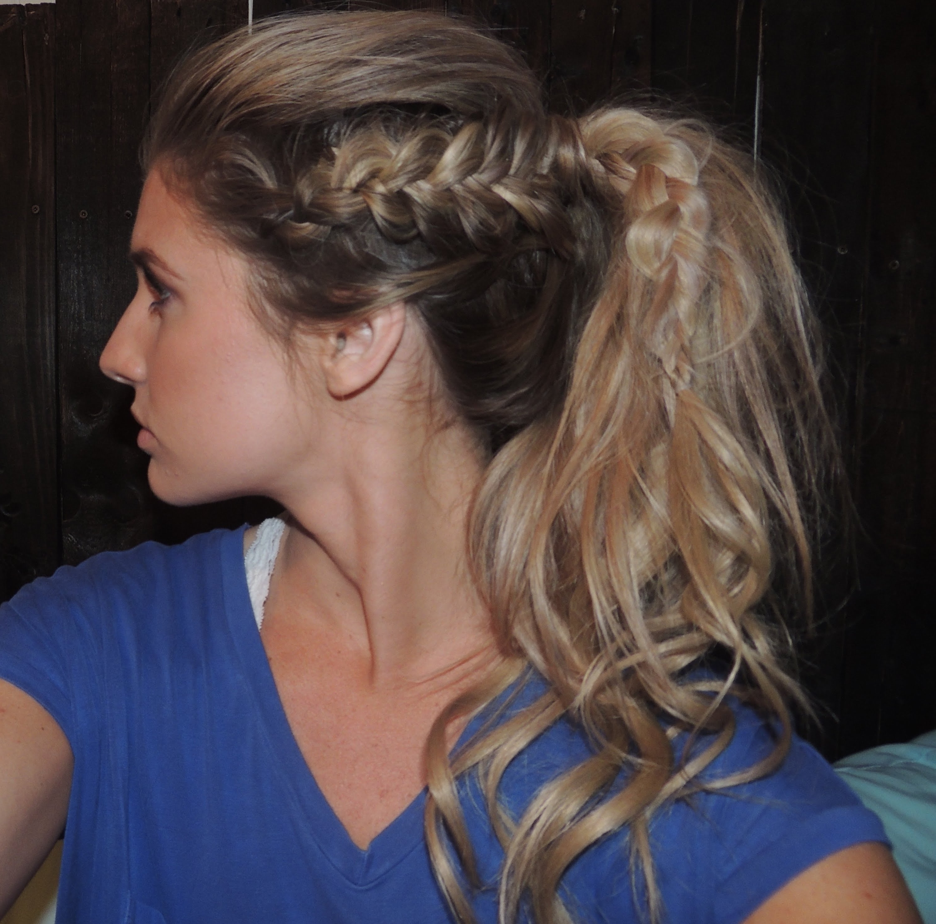 Newest Long Pony Hairstyles With A Side Braid Within How To Tutorial On Side Dutch Braids To A Ponytail – Youtube (View 12 of 20)