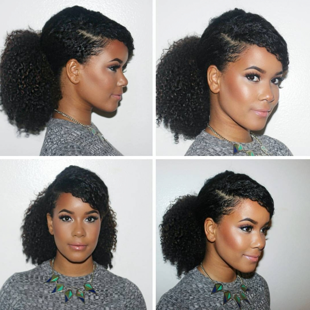 Newest Pony Hairstyles For Natural Hair With Tag: Cute Ponytail Hairstyles For Natural Hair – Hairstyle Hits Pictures (View 16 of 20)