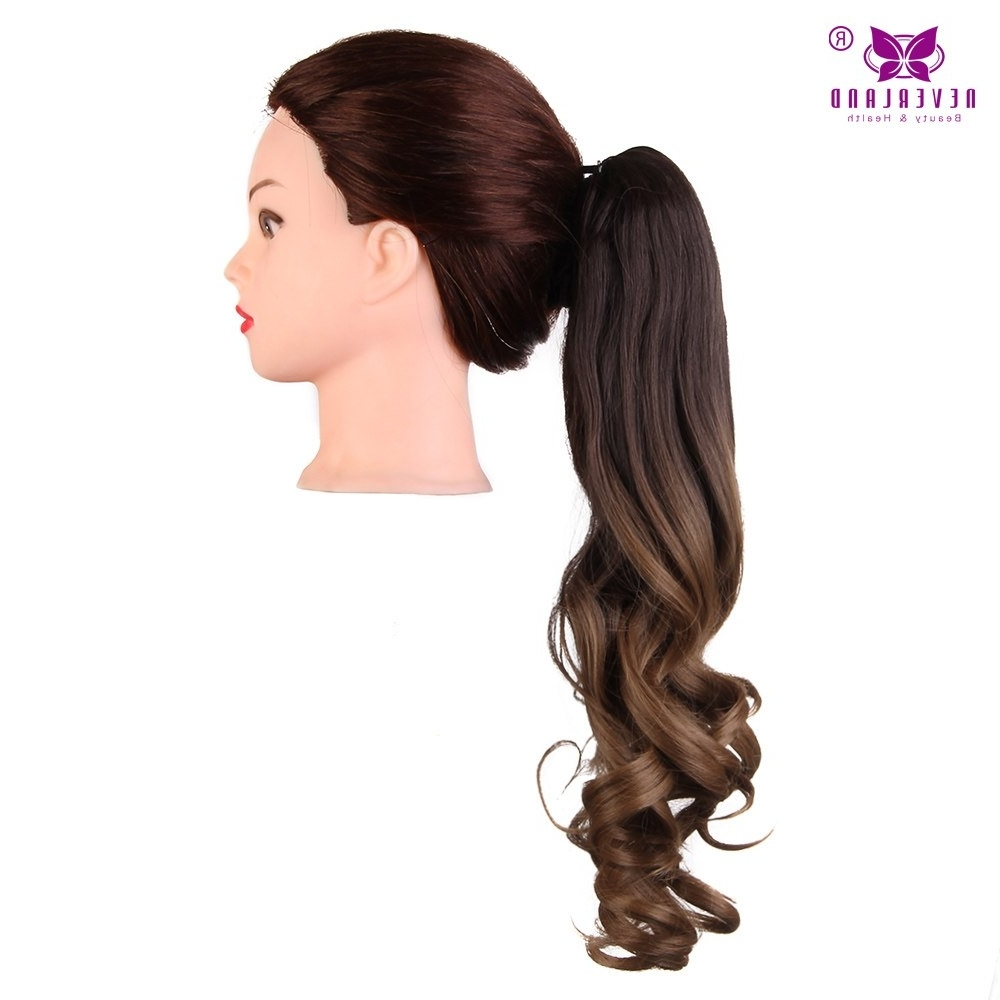 "Newest Ponytail Hairstyles With Wild Wavy Ombre Regarding Aimei 20"" 50cm Synthetic Wavy Claw Clip In Ponytail Hair Extension (View 11 of 20)"