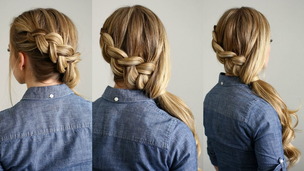 Newest Side Ponytail Hairstyles With Braid In Side Swept Dutch Braid Ponytail (View 10 of 20)