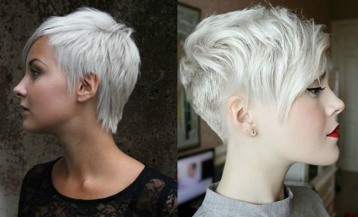 Newest Silver And Brown Pixie Hairstyles Pertaining To Silver Pixie Haircuts (View 9 of 20)