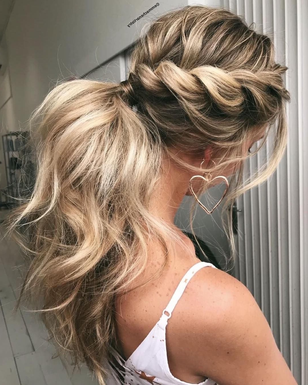 Newest Twisted Pony Hairstyles Pertaining To Twist + Ponytail Hairstyle Ideas #braids #hairstyles #hairstyle (View 10 of 20)
