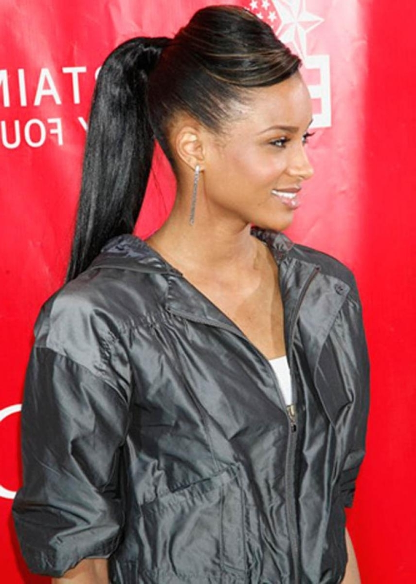 Newest Weave Ponytail Hairstyles In Long Weave Ponytail Hairstyles Pictures Of Black Ponytail Hairstyles (View 9 of 20)