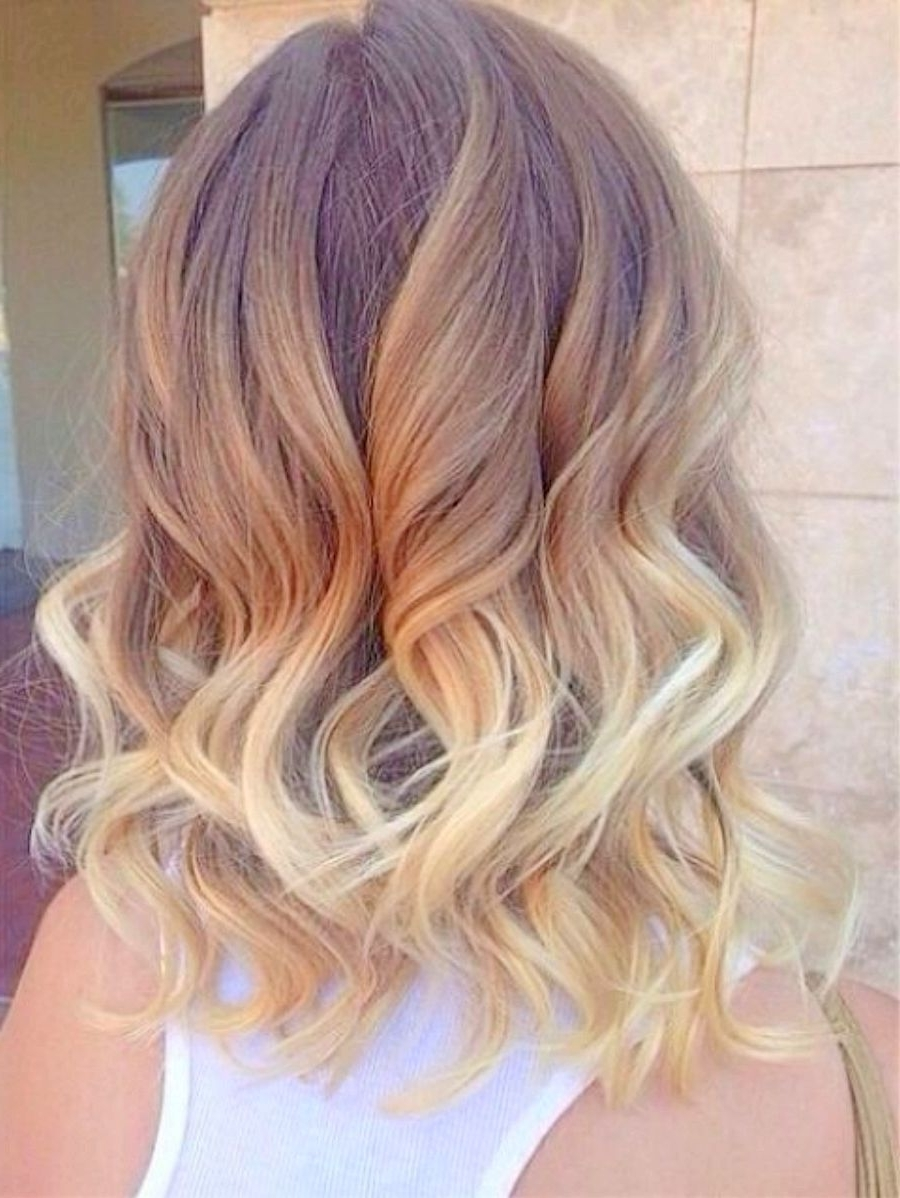 Ombre For Short Haircut Great Blonde Shoulder Length Hairstyles Pertaining To Newest Shoulder Length Ombre Blonde Hairstyles (Gallery 1 of 20)
