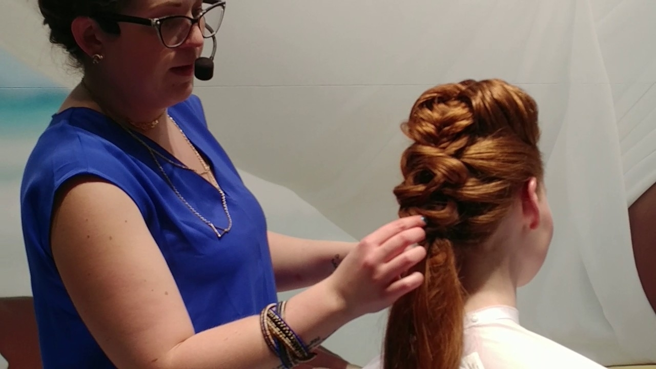 Part 1 – Braided Pompadour & Ethereal Ponytail – Youtube Pertaining To Popular Curly Pony Hairstyles With A Braided Pompadour (View 4 of 20)