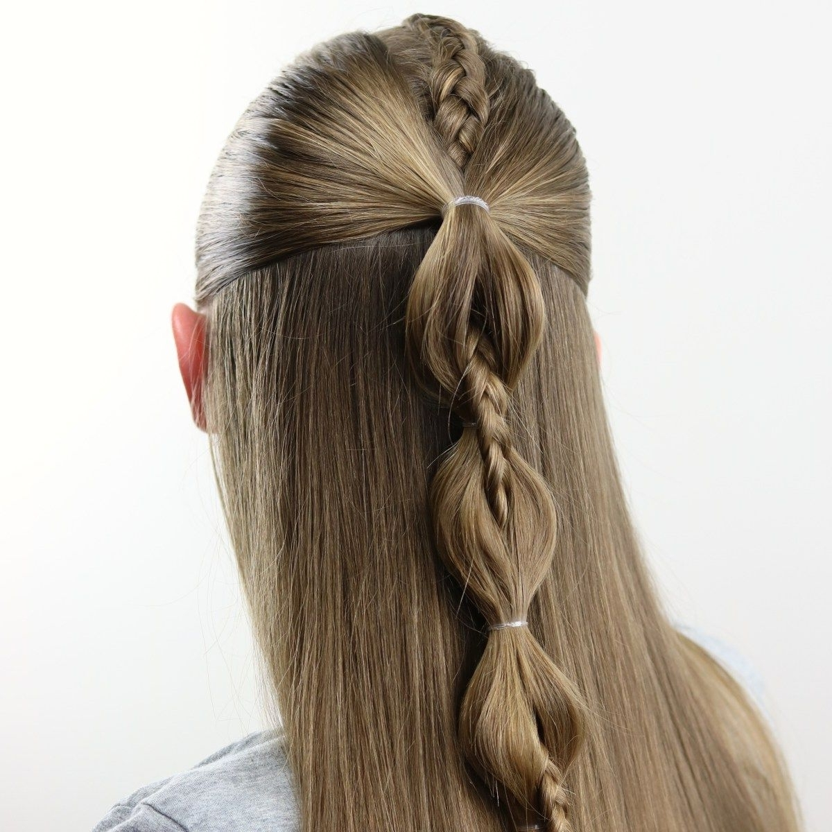 Featured Photo of High Braided Pony Hairstyles With Peek A Boo Bangs
