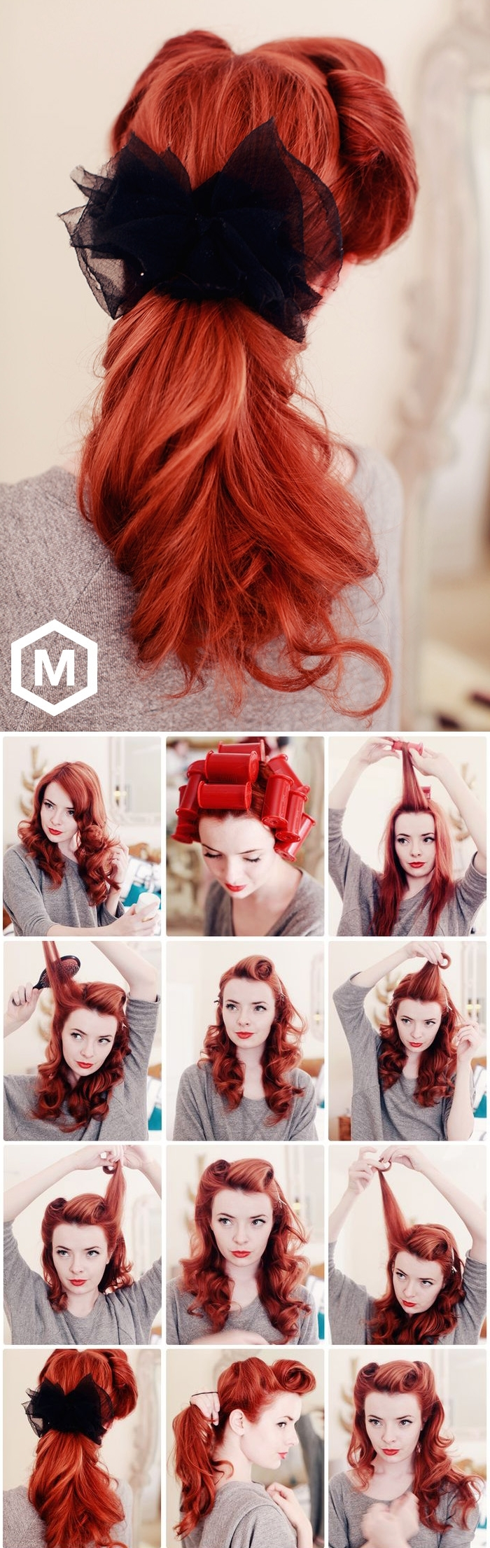 Pin With Newest Quick Vintage Hollywood Ponytail Hairstyles (View 18 of 20)