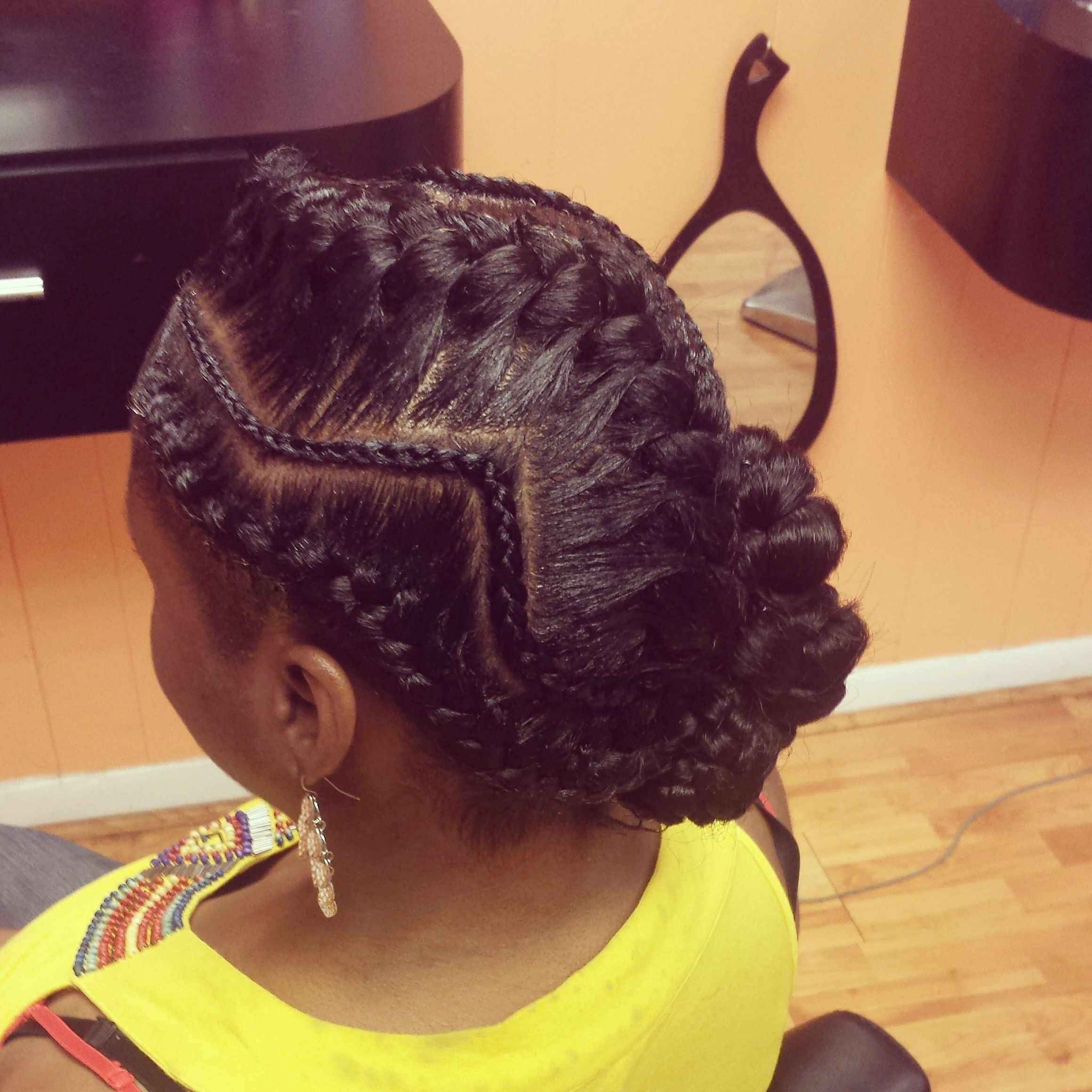 Pinblack Hair Information – Coils Media Ltd On Natural Regarding Best And Newest Reverse French Braids Ponytail Hairstyles With Chocolate Coils (View 8 of 20)