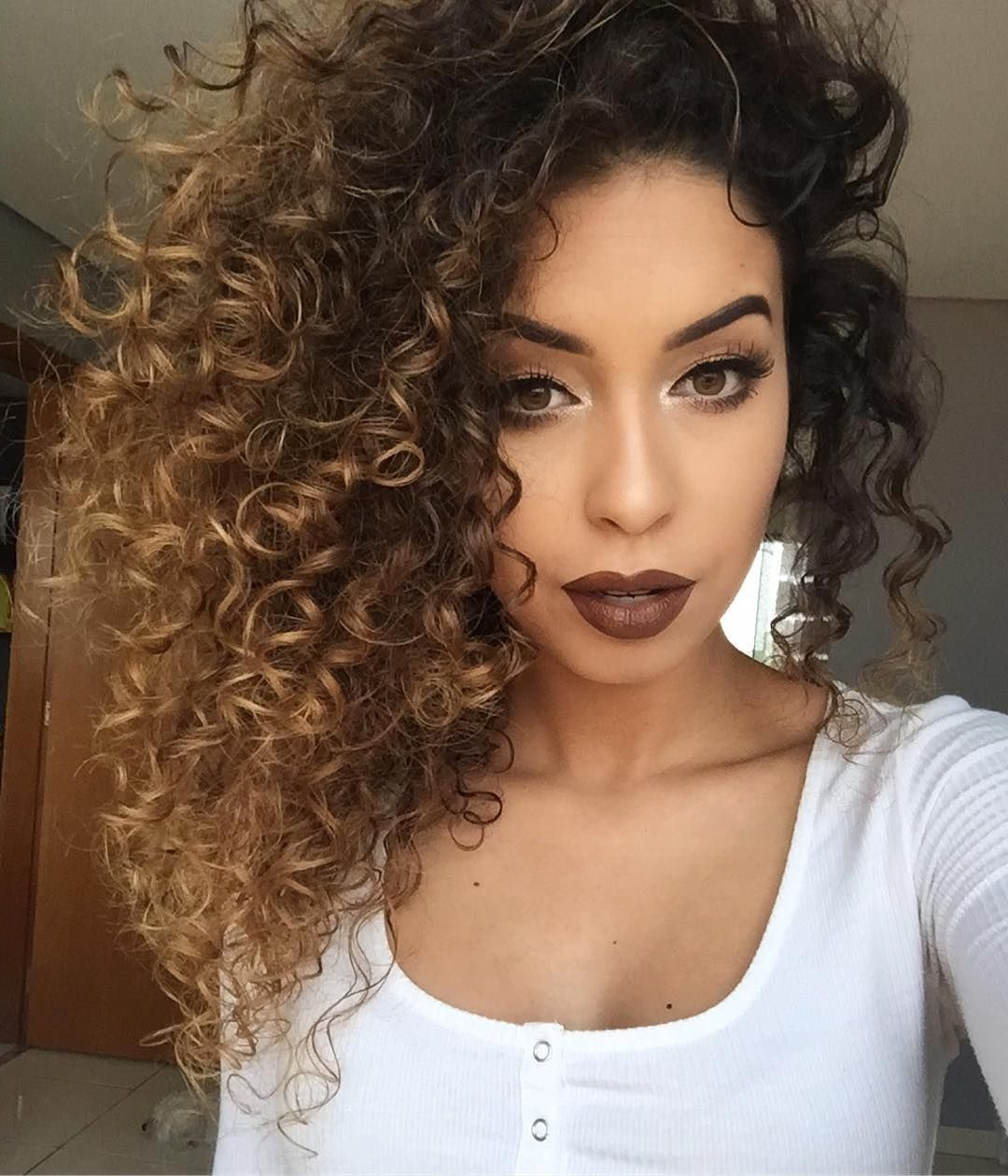 Featured Photo of Brown To Blonde Ombre Curls Hairstyles