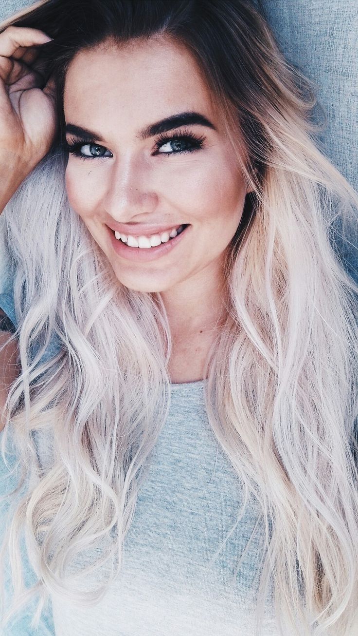 Pinterest In Current Dark Roots And Icy Cool Ends Blonde Hairstyles (View 14 of 20)