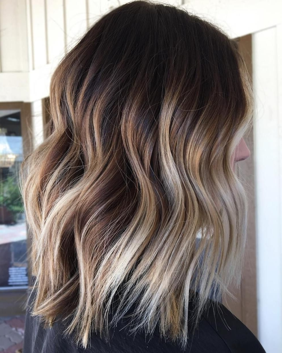 Pinterest Intended For Widely Used Ombre Ed Blonde Lob Hairstyles (View 7 of 20)