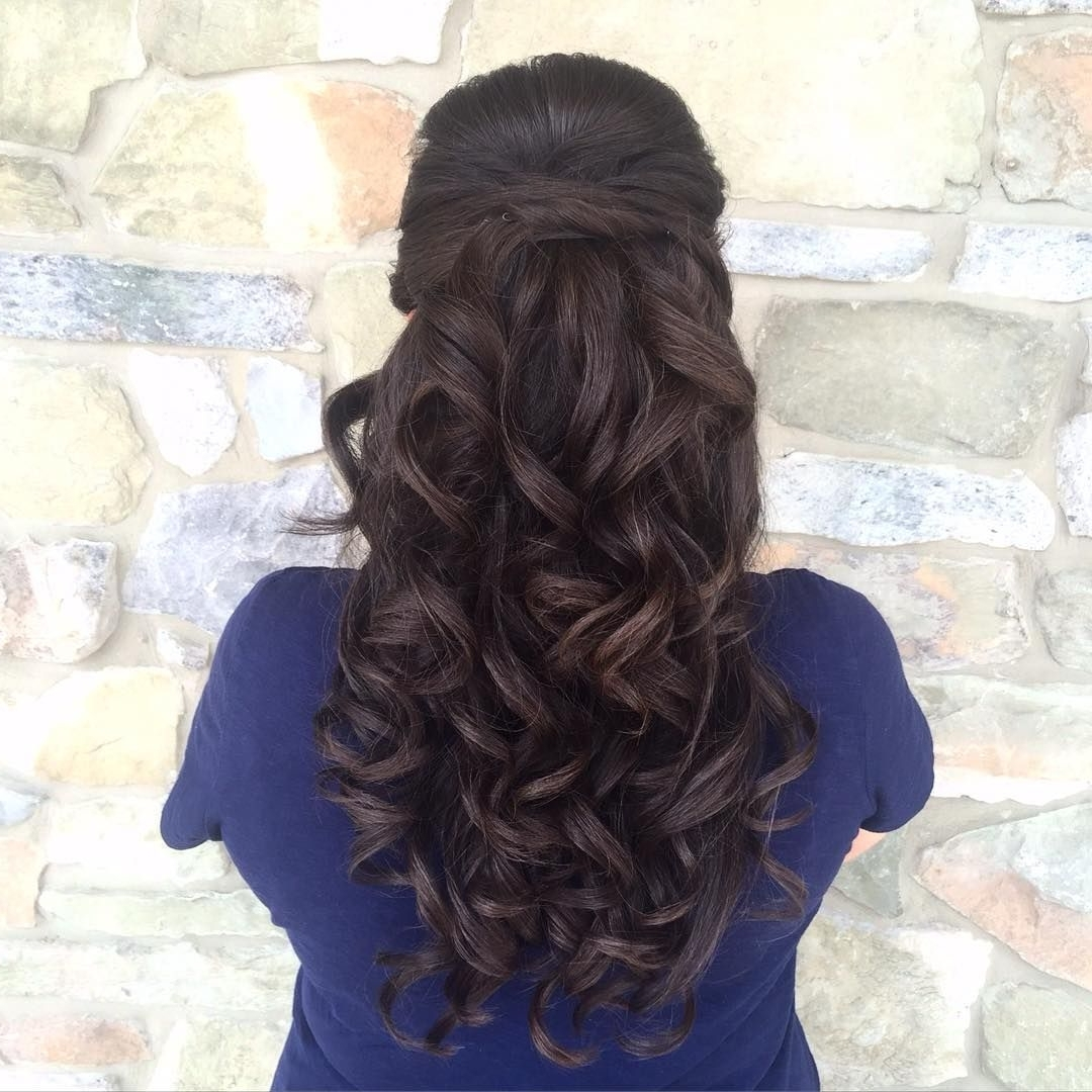 Pinterest Pertaining To Latest Big And Bouncy Half Ponytail Hairstyles (View 15 of 20)