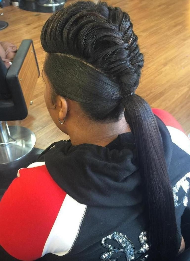 Pinterest With Regard To Most Up To Date Curly Pony Hairstyles With A Braided Pompadour (View 6 of 20)